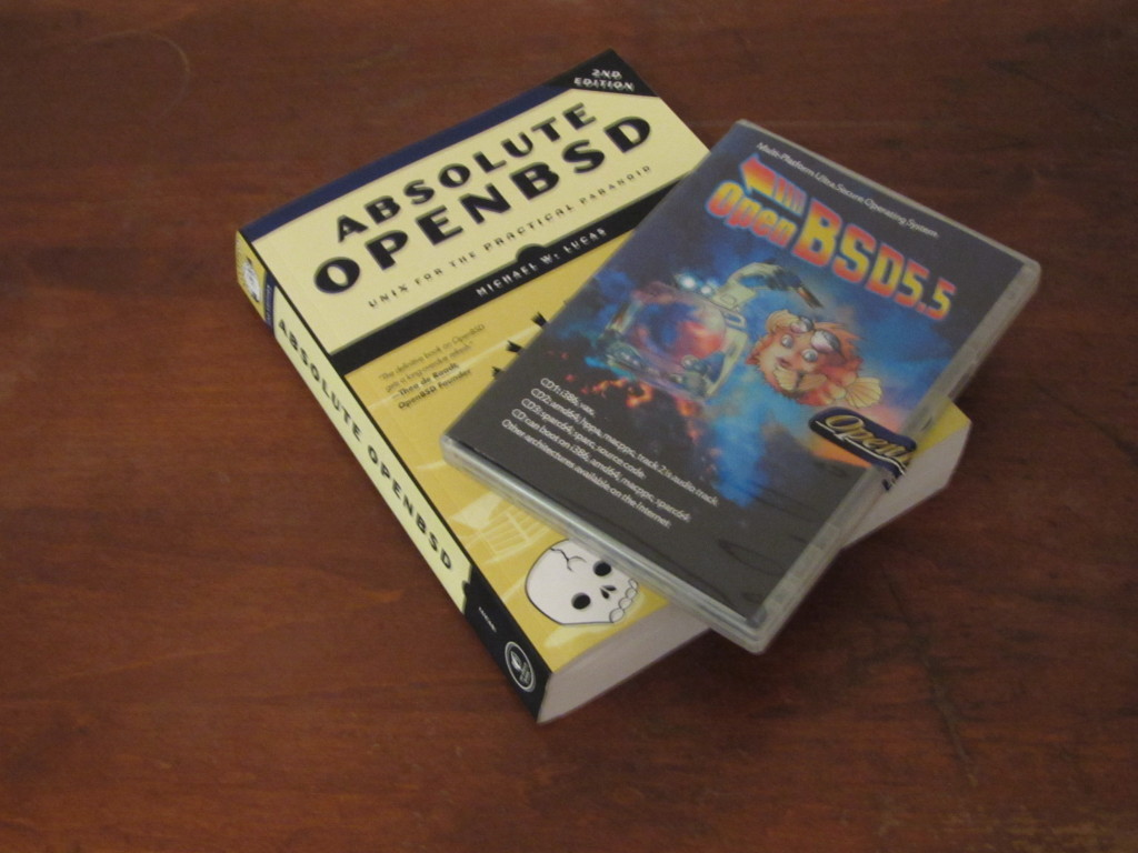 OpenBSD 5.5 CD set and the book Absolute OpenBSD