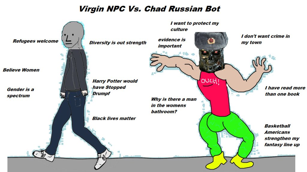 virgin npc versus chad russian bot